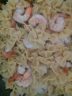 Farfalle with shrimp and scallop scampi