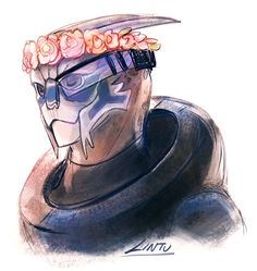 flower crown Garrus by lintu