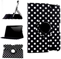 "myLife Matte Black and Canvas White Polka Dots {Professional Executive Carrier} 360 Degree Rotating Case for Amazon Kindle Fire HD 8.9 (High Quality Koskin Faux Leather Cover + Slim Lightweight Design) ""All Ports Accessible"" myLife Brand Products http://www.amazon.com/dp/B00TQ804AI/ref=cm_sw_r_pi_dp_7Dfdvb18447DM"