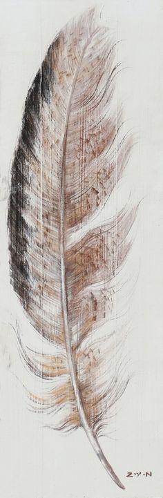 NetAnttila - Öljymaalaus Sulka 40x120 | Sisustaminen ja koristeet