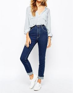 Rollas Eastcoast Ankle Hi Waist Jeans.  Jeans by Rolla's Pure cotton denim Flattering high rise  Four pocket styling Button fastening, concealed placket  Skinny fit - cut closely to the body Machine wash 100% Cotton