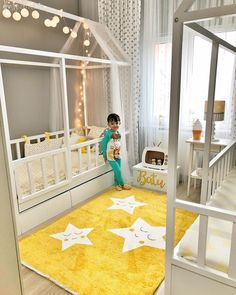 Yellow, Montessori Children's Room, Children's Room, Led Light Source by evgezmesi