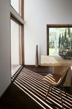 Contemporary Wooden Interior Beautiful, Modern & Sharp Home in New York