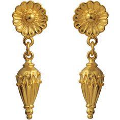 Greek Rosette Pendant Earrings - Earrings - Jewelry - The Met Store