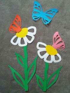 Paper Plate Crafts For Kids, Paper Roll Crafts, Paper Crafts Origami, Easter Crafts, Diy And Crafts, Flower Crafts, Flower Art, Snail Craft, Felt Ornaments