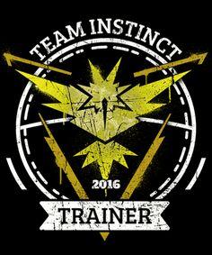 Team Instinct// Even though I don't have Pokemon Go I'd be on Team Instinct!
