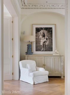 MinniePeters.com - Sideboard with large framed photography