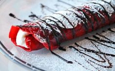 Red velvet crepes are a great way to indulge a little without breaking your diet. Unless you eat all of them, like I would.
