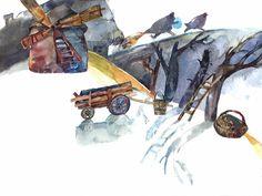 "Polubienia: 5, komentarze: 1 – Dasha Hancharova | illustrator (@dashaillustrates) na Instagramie: ""Run, Forest, run! Watercolor 21x29 cm . . . . . . . . #best_of_illustrations #childrenillustration…"""
