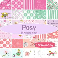 C and I thought we needed this one - just because!  (The addiction might be hereditary!)  Posy Fat Quarter Bundle Aneela Hoey for Moda Fabrics - Fat Quarter Shop