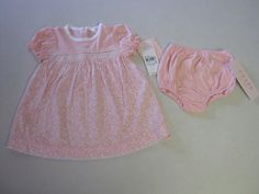 Chaps Dress 6 M Months Pink Baby Girl Diaper Cover NEW #Chaps
