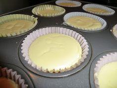 Low Carb Atkins Individual Cheesecakes.  Nice portion control!  16 oz full fat regular block cream cheese  1 cup granular Splenda  2 tsp pure vanilla extract  4 Tbsp lemon juice  3 Tbsp full fat regular sour cream  2 eggs