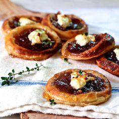 Caramelized Onion and Feta Tartlets