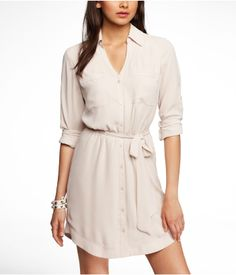 My new obsession..Have it in 6 colors already! THE PORTOFINO SHIRT DRESS | Express