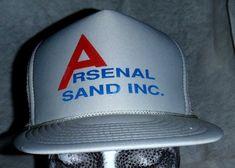f16a9a4e695fa Arsenal Sand Inc. Mesh Snapback Trucker Hat VTG Gravel Circle Pines Mn.  Nissin  Trucker