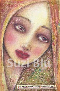 Suzi Blu Create Something Beautiful Mixed Media Art Print