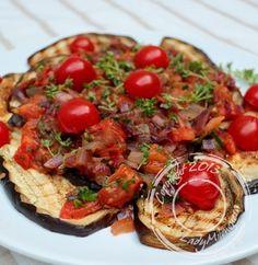 Salade aubergines et tomates