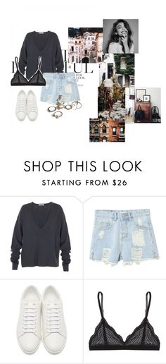 """""""Hands"""" by agnesegundega ❤ liked on Polyvore featuring TIBI, WithChic, Yves Saint Laurent, Cosabella and Monday"""