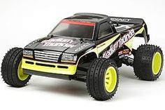 The Tamiya R/C Stadium Thunder Model Kit in 1/10 scale is a radio control car from the tamiya rc off road collection.    Based on the same chassis as the Blitzer Beetle and Stadium Blitzer, the Stadium Thunder was originally released in 1996 and is once again available. This kit is easy to build as is ideal for new hobbyists entering the fun world of radio control assembly kits.