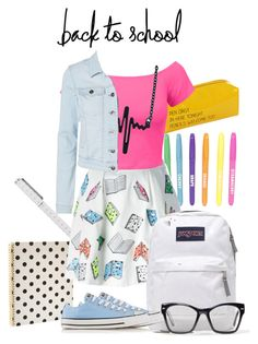 """""""Senza titolo #4032"""" by lisadcruciani ❤ liked on Polyvore featuring Kate Spade, Boohoo, Olympia Le-Tan, JanSport, Happy Jackson, LE3NO, Lipsy, Converse and Spitfire"""
