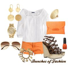 Orange, just can't get enough this summer!, created by cford32 on Polyvore