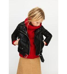 BIKER JACKET Kids Fashion, Fashion Design, Fashion Tips, Fashion Trends, Zara, Baby Winter, Kids Girls, Sling Backpack, Cool Kids