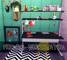 FREDRIK Workstation Desk ts2 to ts4 conversion at Dri4na via Sims 4 Updates