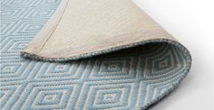 Rhea Flatweave Rug 170 x 240cm, Sky Blue | made.com