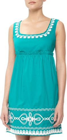 Love Moschino Blue Floral  Heart Ropeembroidered Dress