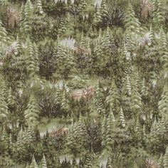 Pine Tree Forest Fabric