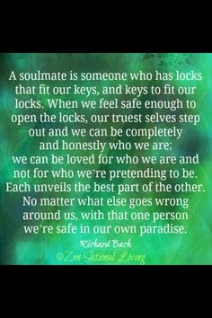 Soulmate ~ sometimes love is a choice not an emotion