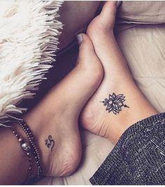 Foot tattoo for women - inspiring ideas and helpful tips! - Foot tattoo for women – inspiring ideas and helpful tips! – Foot … – Foot tattoo for - Mini Tattoos, Small Foot Tattoos, Foot Tattoos For Women, Trendy Tattoos, Tattoos For Guys, Ladies Tattoos, Small Lotus Tattoo, Couple Tattoos, Ankle Tattoos For Women Mandala