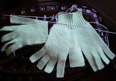 Tricot - gants pour adulte au point mousse