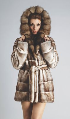 Real Fur Mink Jacket with Fur Marten Hood and by FilimegasFurs Mink Jacket, Fox Fur, Fur Coats, Fashion Outfits, Model, Jackets, Etsy, Clothes, Style