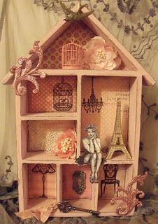 Pink Paris....Bookcase redo