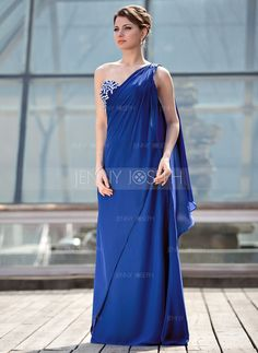 Mother of the Bride Dresses - $156.69 - A-Line/Princess One-Shoulder Floor-Length Chiffon Mother of the Bride Dress With Beading (008018700) http://jennyjoseph.com/A-Line-Princess-One-Shoulder-Floor-Length-Chiffon-Mother-Of-The-Bride-Dress-With-Beading-008018700-g18700