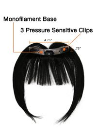 Hair Extensions.com :: The Hair Professionals :: Human Hair Extensions :: easiBangs Human Hair Clip In Bangs (1 pc) by easihair