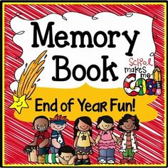End of Year Memory Book - This end of year memory book includes 22 pages of end of year activities (including autograph pages). It comes in black & white only so that the kids can color their own end of year memory books and you can save on ink. The end of year memory book is put together in the suggested order of the pages but you are free to use as many or as few of the end of year memory book pages as desired and order them how you like as you know your students best.