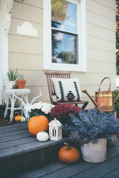 Autumn outside decoration