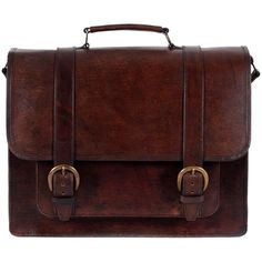 Beara Beara El Dorado Large Leather Satchel (29.090 RUB) ❤ liked on Polyvore featuring bags, handbags, accessories, purses, bolsas, genuine leather handbags, laptop purse, red handbags, red leather satchel and man bag