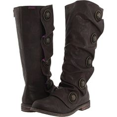 Blowfish boots! These have got to be comfy and they have big buttons!