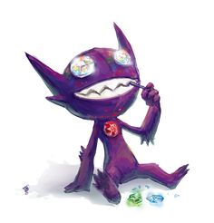 Sableye by =MeAndMyRobot on deviantART but imagine sableye and the crystal gems? Like sableye would be like the boogie man or something Ghost Type Pokemon, Pokemon Pins, All Pokemon, Cute Pokemon, Equipe Pokemon, Best Pokemon Ever, Pokemon Pocket, Ship Art, Anime Shows