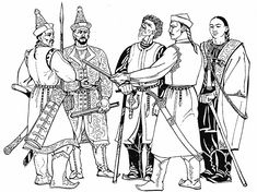 The graphics are clearly visible in the costume of the conquest of the theory, which is decorated with wealthy clothing assumed conquering ancestors. Armor Clothing, Medieval Clothing, Medieval Fashion, Capital Of Hungary, Archaeological Finds, Ancient Symbols, Fashion Images, Mongolia, Period Outfit