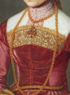 Portrait of a Young Lady, Nicolas de Neufchatel, 1561 Costume Renaissance, Renaissance Jewelry, Renaissance Fashion, Renaissance Art, Historical Art, Historical Costume, Historical Clothing, Fashion History, Fashion Art