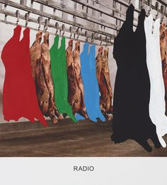 From Mai 36 Galerie, John Baldessari, RADIO Varnished inkjet print on canvas with acrylic paint, × × 4 cm Op Art, Modern Art, Contemporary Art, John Baldessari, Appropriation Art, Internet Art, Photography Collage, New Media Art, Creepy Pictures