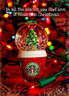 #starbucks #christmas #redcup #snowglobe