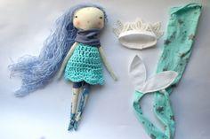 lovely blue arctic mermaid little lu girl  13ish