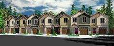 This is a 7-unit house plan giving you identical 19'-wide units that give each owner 3 beds and 2.5 baths.Each unit gives you 1,540 square feet (635 sq. ft. on the main floor and 905 sq. ft. on the upper floor).The foyer gives you views to the back of the home where an open concept plan awaits. The kitchen island has bar seating on two sides and the living room enjoys a fireplace and patio access through sliding doors. The bedrooms are upstairs. The master has a vaulted ceiling and the la...