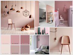 OUDROZE / PASTEL Zachte en afgezwakte roze tinten zijn echt niet altijd meisjesachtig in een ruimte! - www.witzand.nl