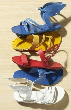 Bold, bright summer sandals.